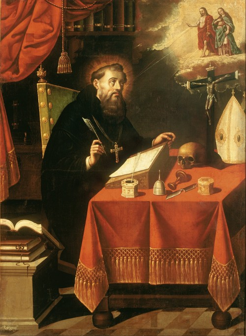 "Museo Nacional de Arte [Public domain], <a href=""https://commons.wikimedia.org/wiki/File:Antonio_Rodr%C3%ADguez_-_Saint_Augustine_-_Google_Art_Project.jpg""  target=""_blank"">via Wikimedia Commons</a>"
