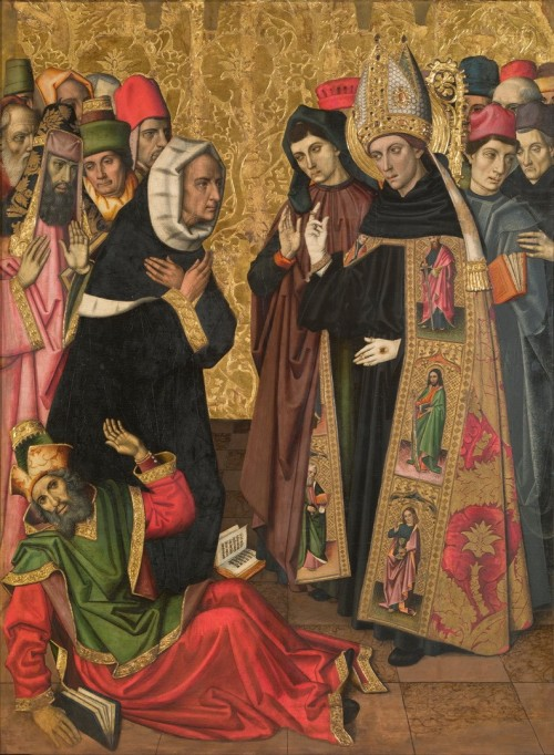 "Museu Nacional d&#039;Art de Catalunya [Public domain], <a href=""https://commons.wikimedia.org/wiki/File:Verg%C3%B3s_Group_-_Saint_Augustine_Disputing_with_the_Heretics_-_Google_Art_Project.jpg""  target=""_blank"">via Wikimedia Commons</a>"