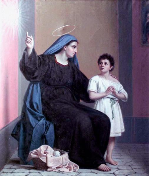 "Saint Monica and Saint Augustine  <a href=""https://commons.wikimedia.org/wiki/File:Santa_Monica_e_Sant%27Agostino.jpg"" target=""_blank"">Giuseppe Riva</a>, Public domain, via Wikimedia Commons"